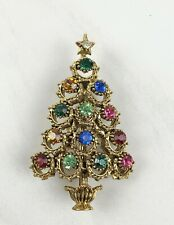 Vintage Hollycraft Christmas Tree Brooch
