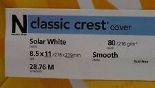Neenah Classic Crest Solar White Card Stock 80 lb cover / 100 pack