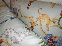 SCALAMANDRE Throw pillows VENETIAN CARNIVAL print multi on Mint Custom new PAIR