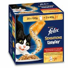 Felix Sensations Crunchy Crumbles Meat Selection In Jelly *40 x 100g + 4 x 40g*