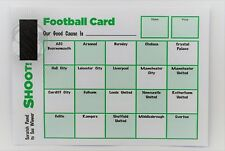 Pack of 100 Fund Raising Charity Event Football Scratch Cards 20 Teams