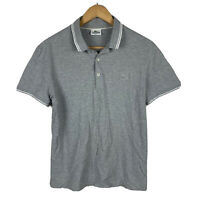 Lacoste Mens Polo Shirt Size 4 Slim Fit (Small) Grey Short Sleeve Good Condition
