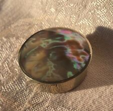 inlaid with Abalone Vintage Pill Box, handcrafted,