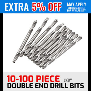 """10-100 Piece 1/8"""" Double Ended Drill Bits Set 3.2mm Aluminium"""