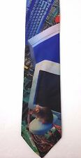 vtg 1995 COMPUTER IMAGES NECK TIE Ralph Marlin Funny 90s Monitor Mouse Keyboard