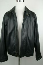 Eddie Bauer Leather Bomber Jacket Men Size Medium MSRP $330