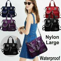 Pocket Tote Large Capacity Crossbody Shoulder Bag Ladies Waterproof Handbag.