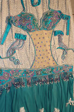 professional belly dance costume 5 pieces set very luxury