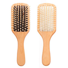 Natural Wood Paddle Brush Wooden Hair Care Spa Massage Comb Anti Static Comb
