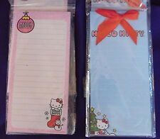 Hello Kitty Sanrio Magnetic List Pad 60 pages 1 PInk 1 Blue Christmas Lot of 2