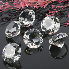 1 Crystal Clear Paperweight Cut Glass Giant Diamond Jewel Decoration Crafts 40mm