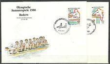KOREA/ Olyympia 1988 MiNr Block 1410/11 auf 2 FDC