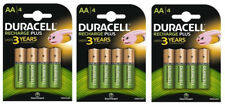 12x Duracell AA 1300mAh PRE/STAY CHARGED Rechargeable Battery NiMH 5000394039247
