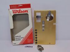 VINTAGE WILSON DELUXE SCORECARD HOLDER METAL IN BOX-HOLDS 4 BALLS-6 TEES-PAD