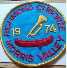 1974 Richmond Cuboree Morris Valley Hand Woven Badge (K29M)
