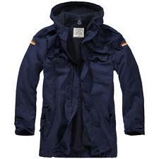 Brandit BW Parka Flag Outdoor Warm Hooded Mens Liner Vintage Coat Cotton Navy