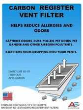 (3 Pack) HVAC Furnace Register Vent Charcoal Carbon Pre-Filter Pads 12″ x 16″