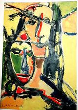 Künstlerische Malereien von 1900-1949 im Expressionismus-Gouache