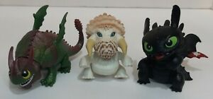 "How To Train Your Dragon Mini Figure Lot Of 3 Toothless and More 2.5"" - 3"" 2013"