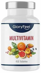 Multivitamin Hochdosiert 450 Tabletten (15 Monate) Alle Wertvollen A-Z Vitamine