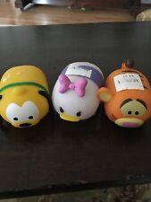 Disney /Pixar Winnie's Pals & Daisy Glow Buddies Tsum Tsum Set Of 3 Euc