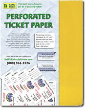 Perforated Raffle Ticket Paper (24lb) GOLDENROD -  makes 1,040 tickets