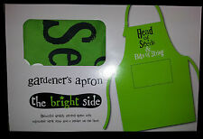 Apron Head of Seeds & Bits of String The Bright Side Green Cotton Boxed gift New