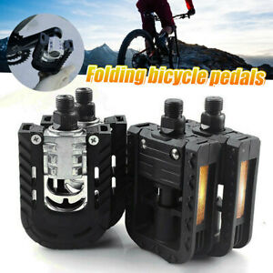 Pair Mountain Bicycle Bike Folding Pedal Bearing Pedals Non-slip 9/16'' Axle US
