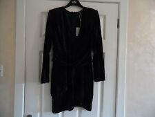 MISSGUIDED NAVY LONG SLEEVED VELVET DRESS SIZE 12 - BNWT - 144