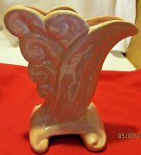 vintage gonder vase # e-4 scroll shell