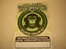The Black Eyed Peas Backstage Pass 2006 Europe