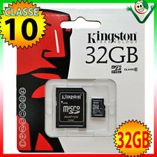 Scheda MicroSD KINGSTON 32GB classe10 per Samsung Galaxy S8 S8 Plus