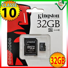 Scheda MicroSD originale KINGSTON 32GB classe10 per Vodafone Smart 4 4G turbo