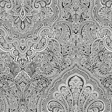 WALLPAPER SAMPLE    Gorgeous Black and White Paisley