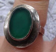 Glass Silver Ring Vintage Costume Jewellery
