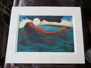 Moon Magic Print - Julie Higgins - Mendocino Artist Matted and Signed