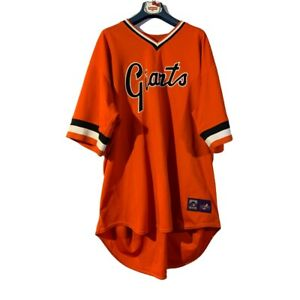 VTG Barry Bonds #25 San Francisco Giants MAJESTIC Athletic Jersey Mens 4 XL