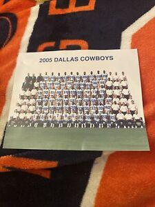 Rare 2005 DALLAS COWBOYS TEAM ROSTER PHOTO With Keyshawn Johnson/Bill Parcells