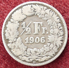 Svizzera Mezzo Franco 1906 (D1703)