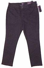 New NYDJ 14 P Black & Gray animal print stretch jegging skinny jeans pants