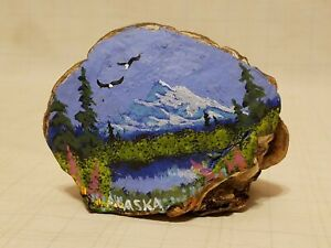 Vintage Handpaintd Tree Conk Mushroom Fungus Folk Art Alaska Signed