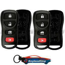 2 Replacement Remote Key Fob Shell Pad Case for 2002-2004 Infiniti I35