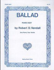 Ballad 1 Piano 4 Hands Piano Duet Sheet Music By Robert Vandall Myklas