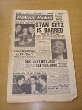 MELODY MAKER 1959 APRIL 18 STAN GETZ CHRIS BARBER ARMSTRONG JUKE BOX JURY< +