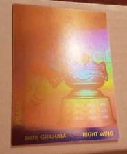 1991-92 UPPER DECK HOCKEY AWARD WINNERS HOLOGRAMS INSERTS DIRK GRAHAM #AW8