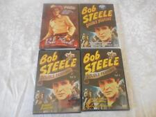 4 DVD's& DVRS -ALL Bob Steele - 10 Movies - Westerns - 1 Like New - 3 New Sealed