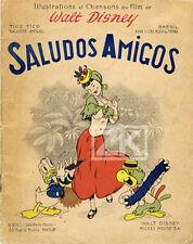 SALUDOS AMIGOS Partition Sheet Music Walt DISNEY Amimation Cartoon Donald 1947