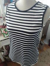 Topshop maternity blue & white stripe sleeveless top size 10 💕