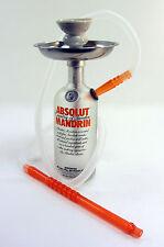 ABSOLUT(R) Hand Made Hookah Shisha 750mL Glass Bottle Orange/White