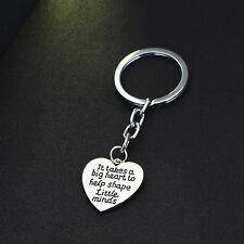 Teacher Keyring It Take A Big Heart To Help Shape Little Minds Keychain Jewelry
